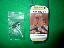 TV Ears 10 Replacement Ear Tips +  2 snap tip adapters  NEW!