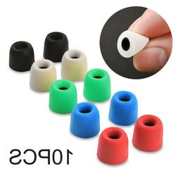 5 Pairs / 10pcs Silicone Earbud Ear Tips Replace Memory Foam