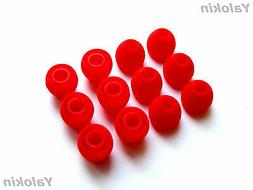 12pcs Small Red Soft Replacement Eartips for Audio-Technica