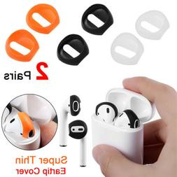 2 Pairs Soft Silicone Antislip Earphone Ear Tips Buds Cover