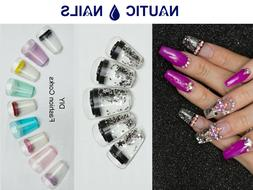 24 Aquarium Nails Acrylic False Nail Art Tips