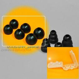 6 Pair Black Round Earbuds Ear Bud Tips Replacement For Beat