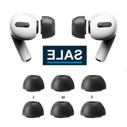6pc Memory Foam Replacement Ear Tips Buds For Apple Airpods