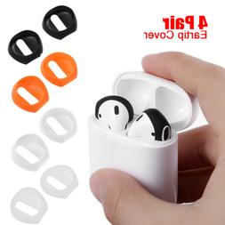 4 Pair Anti Slip Earbud Silicone Cover Case Earphone Tips Fo