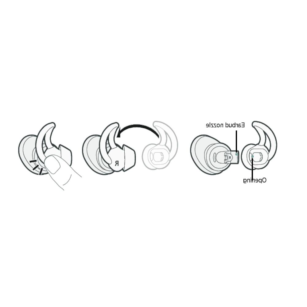 Ear for Bose Headphones Pairs Earbuds Stay Hear Tips Silicone