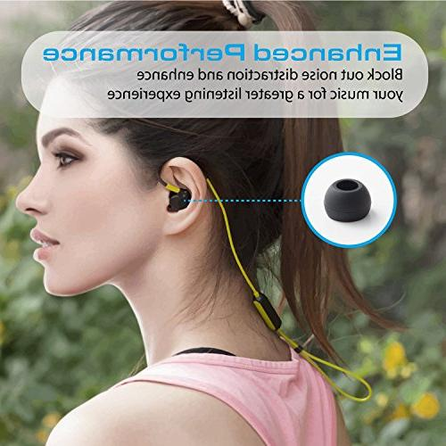 Insten Replacement For by Dr. Dre Powerbeats Wireless Pairs Silicone Ear Tips Secure for Workout - Medium, Large and Flange