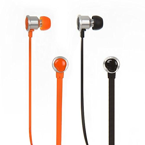 Dual Electronics Painted A1K Tangle-Free Wire Noise with Built-in Case