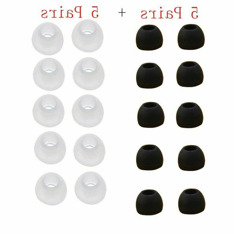 replacement silicone ear bud tips black cover