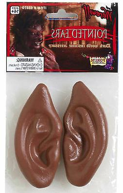Latex Brown Werewolf Pointed Wolf Ears Tips Costume Accessor
