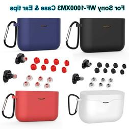 For SONY WF-1000XM3 Silicone Protective Charging Case Cover